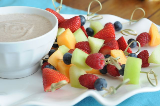 Honey-Yogurt Dip with Fresh Fruit